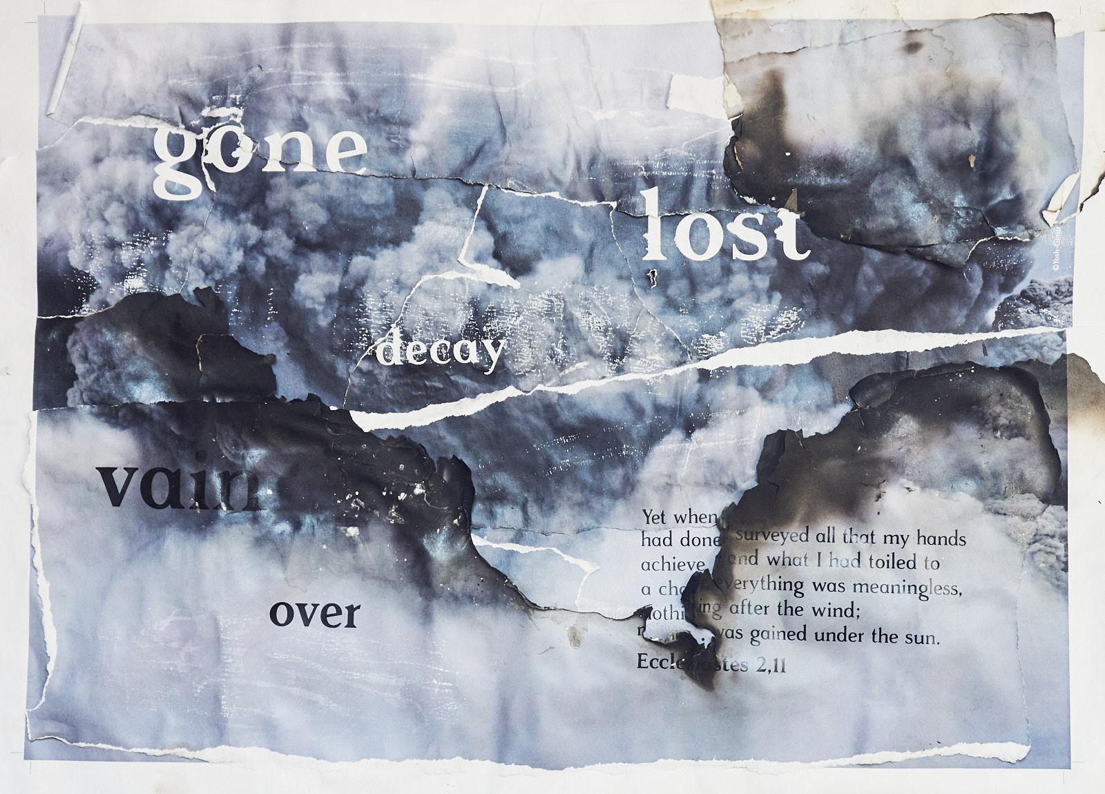 Poster – Ecclesiastes 2,11 – Burnt